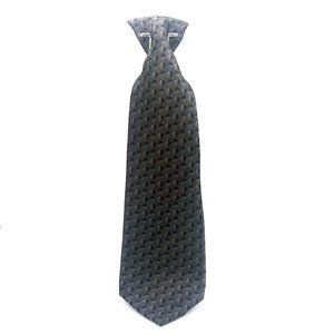 Stonehenge Grey Geometric Silk Tie